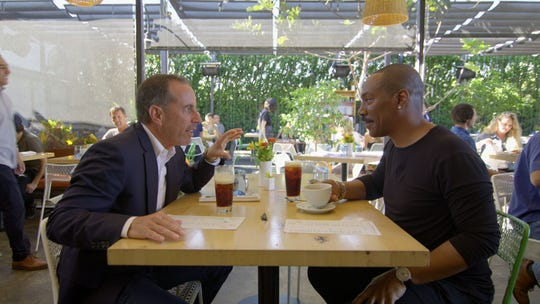 'Comedians in Cars Getting Coffee' host Jerry Seinfeld, left, and guest Eddie Murphy talk about their early days in stand-up in New York.