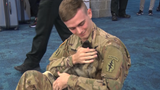 Army Spc. Tyler Mosley was reunited with Daisy, a puppy he met and rescued while serving in Syria at Eglin Air Force Base.