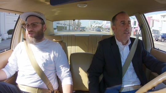 Seth Rogen, left, tells Jerry Seinfeld a surprising story about how he learned about Bill Cosby's sexual misconduct on a Season 11 episode of Netflix's 'Comedians in Cars Getting Coffee.'