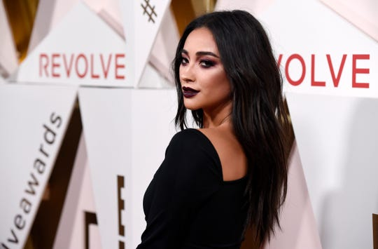 Shay Mitchell takes part in the 2017 Revolution Awards on Thursday, November 2, 2017, in Los Angeles.