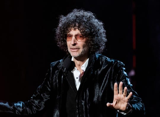 Howard Stern speaks at the 2018 Rock and Roll Hall of Fame Induction Ceremony in Cleveland on April 14, 2018.