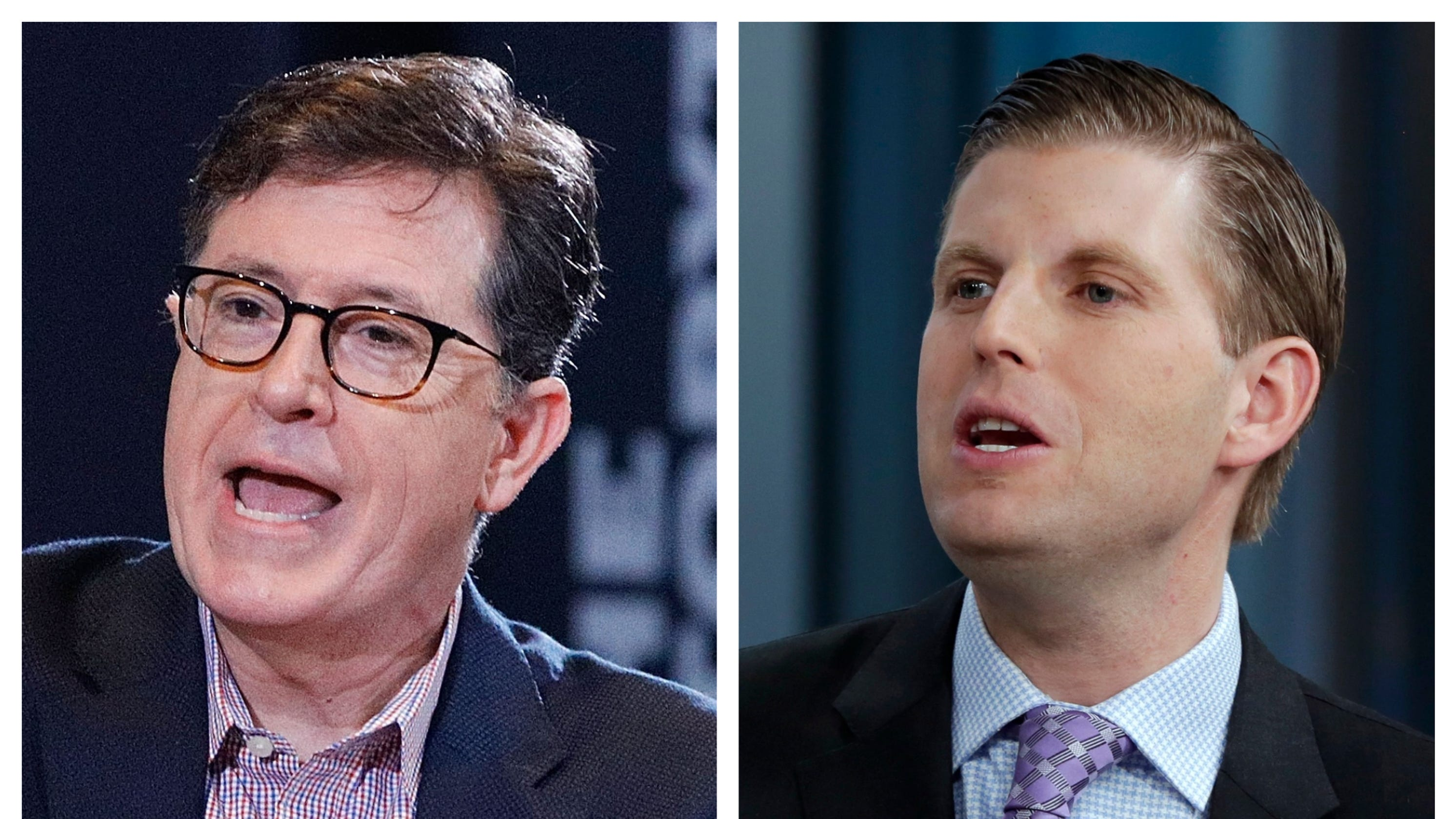 Stephen Colbert rips Eric Trump - and his appearance - in scathing 'Late Show' monologue