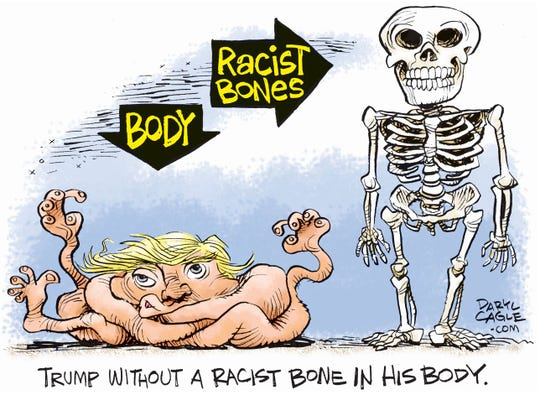 No racist bones in Trump