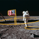 Buzz Aldrin and Neil Armstrong put a flag on the moon. Here's what you can and can't see in the iconic photo