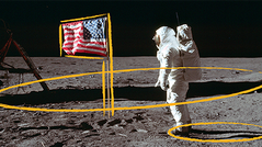 To commemorate the 50th anniversary of Apollo 11, USA TODAY spoke with NASA experts to explain the details in the famed flag photo on the moon.