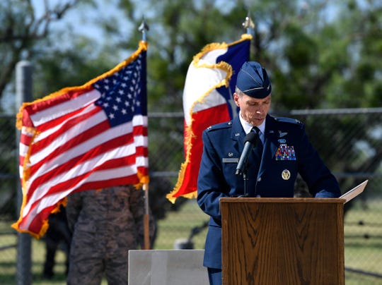 ol. Jeffrey Menasco, the commander of the 317th Airlift Wing, reflections off TORQE 62, the 2015 C-130 crash in Afghanistan that killed four Dyess Air Force Base airmen, among others. The Dyess Memorial Park expansion was dedicated in their honor Friday, and in the memory of other Dyess personnel who have lost their lives in service.