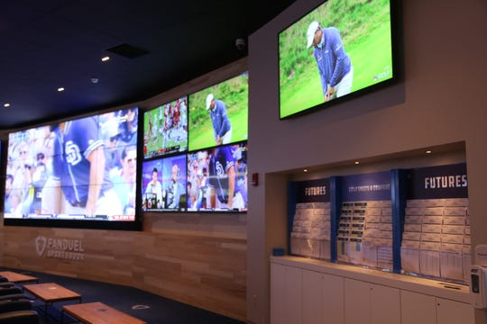 FanDuel's new 2,600-square-foot sports betting retail location is near the main entrance of the Tioga Downs Casino.