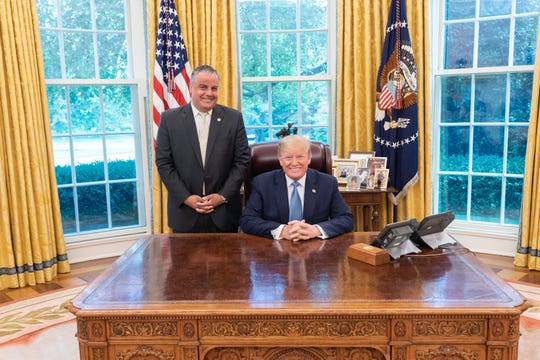 City of Binghamton Mayor Richard David attended an Oval Office meeting with President Donald J. Trump at the White House Tuesday.