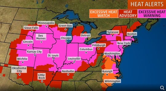 An excessive heat warning has been issued for many Southern Tier counties from July 19-20, 2019.