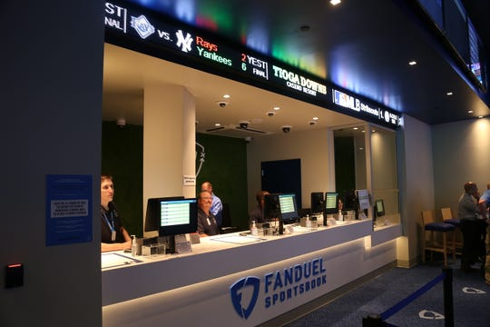 People can now place legal bets on sports at FanDuel Sportsbook located at the Tioga Downs Casino Resort.