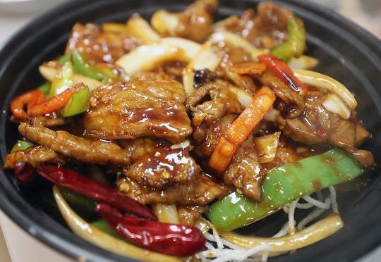 A to-go order of Mongolian beef at Blossom Chinese Cuisine in Poulsbo on Friday.
