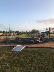 Arson is suspected in the fire that destroyed a playground at Goode Park in Palm Bay.