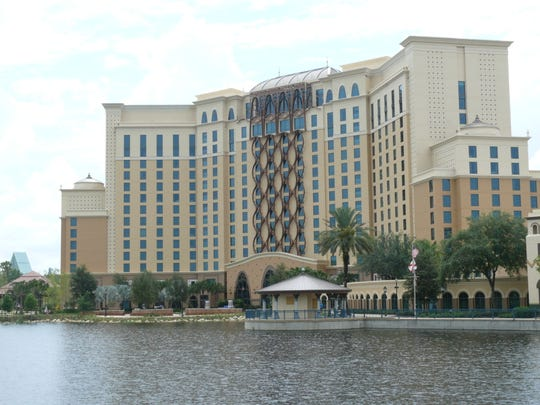 The new Gran Destino Tower at Disney's Coronado Springs.