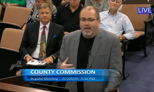 Titusville resident Ben Brotemarkle, executive director of the Florida Historical Society, was among the speakers addressing the Brevard County Commission in support of the Historical Commission.