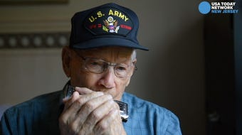 WWII veteran Al Guretse of Cherry Hill, 95, performs patriotic music at events and recenstly published a book of poetry.