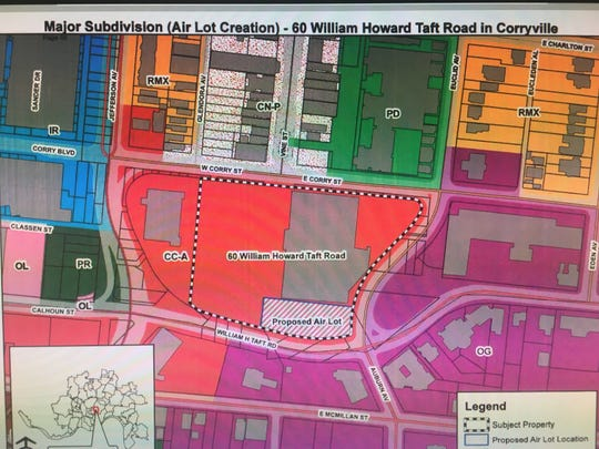 Here's the site plan for a Tru by Hilton hotel proposed for Corryville.