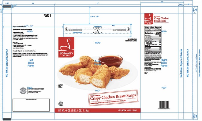 Chicken Strips from Koch foods are being recalled.