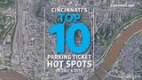 The top 10 spots in Cincinnati for parking tickets in 2017 and 2018.