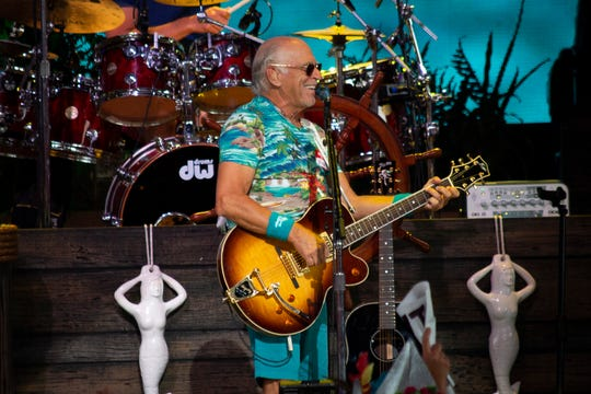 Jimmy Buffett performs at Riverbend Music Center on Thursday, July 18, 2019.