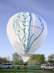 """MS MindShift """"Brain Bulb"""" wheelchair accessible hot air balloon."""