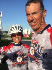 Georgine and Jay Ustruck, of Florida, rode RAGBRAI for the first time in 2018.