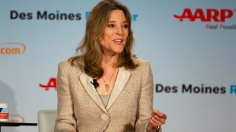 Democratic candidate Marianne Williamson discusses senior living and lifestyles on July 19, 2019.