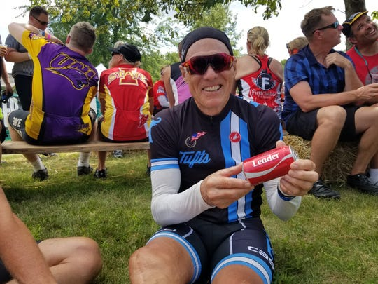 Jack Harrison, who died last year at age 68, after being hit by a car while cycling in Florida, rode RAGBRAI for the last five years on Team Moore On. He was an accomplished distance cyclist and retired English teacher.