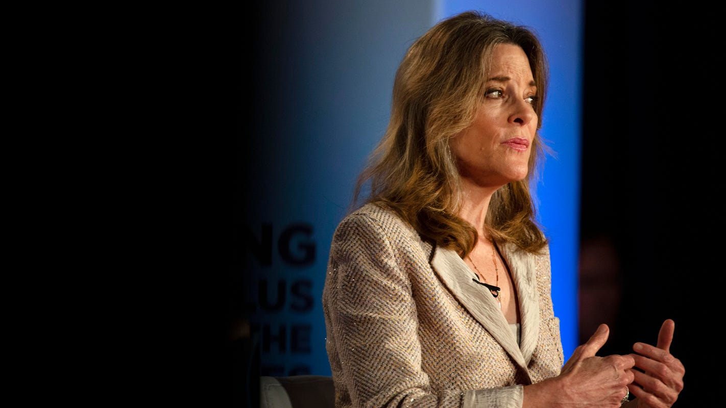 Presidential candidate Marianne Williamson talks racial justice in speech to NAACP