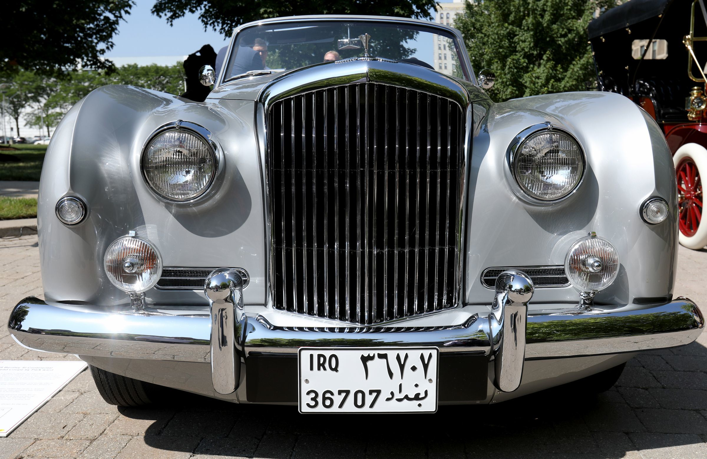 A 1958 Bentley SI Continental once owned by Saddam Hussein was in town for last year's Concours d'Elegance.
