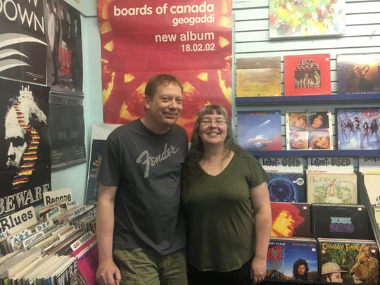 Carl Hultgren and Windy Weber are the owners of Stormy Records in Dearborn, which is celebrating their 20th anniversary Saturday.