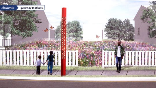This rendering was typical of the plans that Maurice Cox and members of the Detroit's planning department envisioned how the the streets and residential neighborhoods that are around Marygrove College and the University of Detroit at the Livernois and McNichols Road area would change with everything from community gardens to walk and bike paths.
