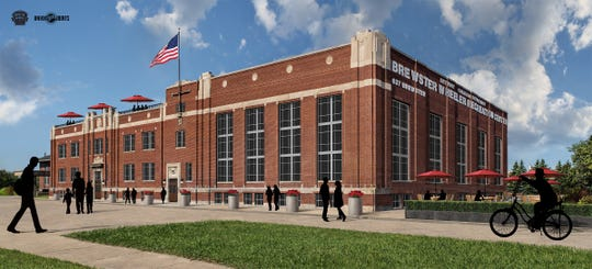 A 2015 rendering of how the Brewster Wheeler Rec Center in Detroit was expected to look by now.