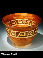 Wooden bowls by Thomas Stahl of Fairfield, Ohio, are among the works chosen for this year's Orchard Lake Fine Art Show.
