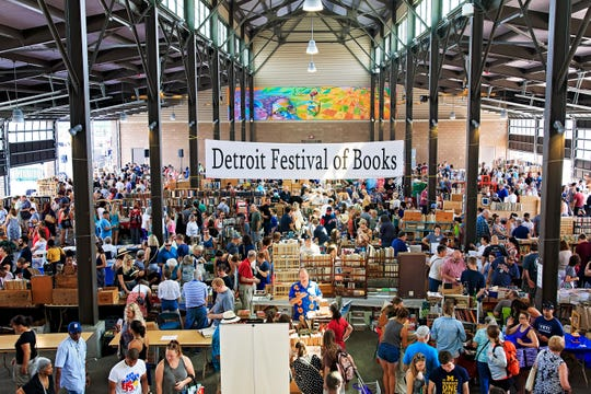The scene last year at the Detroit Festival of Books in Eastern Market. This year's fair happens Sunday.