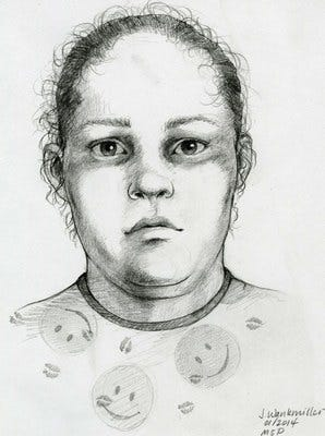 FBI agents and the Highland Park Police are asking for help to identify this woman, who was found dead in an alleyway on May 20, 1996.