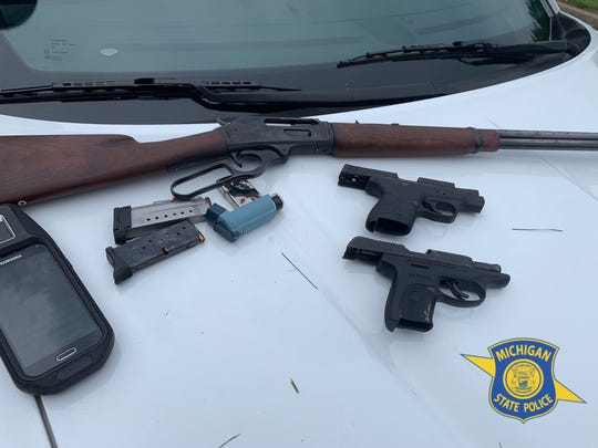 Authorities recovered the man's rifle and two other handguns.