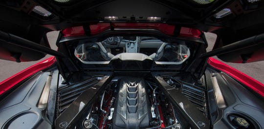The Corvette C8 claimsthe same performance numbers as the $270,000 all-wheel-drive Lamborghini Huracan EVO for a quarter of the price. GM can keep the car affordable by building the small-block V-8 on the same high-volume production line as truck engines.