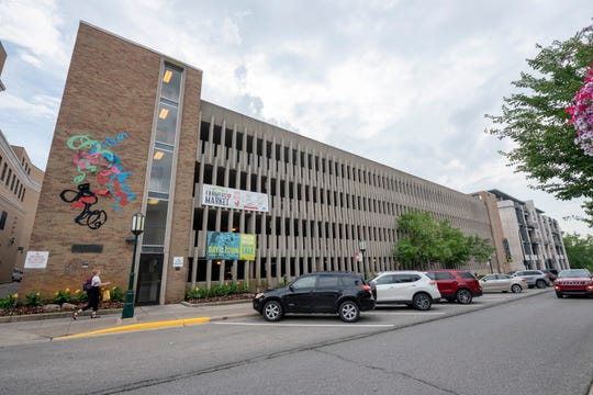 The parking garage at 333 North Old Woodward in Birmingham would be replaced with a newer and bigger facility with additional parking spaces.