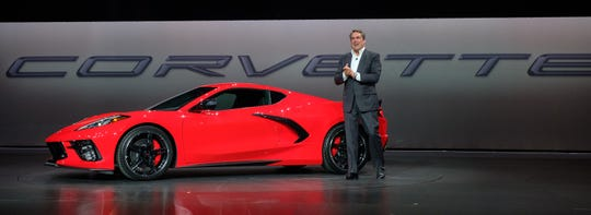 GM President Mark Reuss introduced the 2020 Chevrolet Corvette Stingray late Thursday in Tustin, California.  Reuss said the first-ever mid-engine Corvette can accelerate from 0-60 in under 3 seconds, and will start at under $60,000.