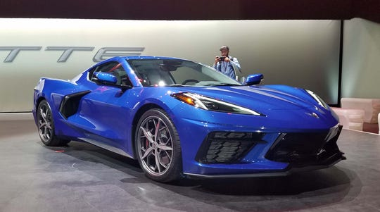 The 2020 mid-engine Chevy Corvette C8 sports luxury features like adjustable ride height and dual-clutch transmission.