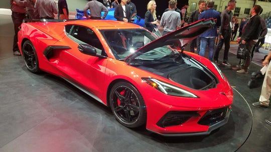 The 2020 mid-engine Chevy Corvette C8 has frunk 'n' trunk storage.