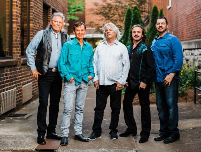 Pure Prairie League will be performing Friday night at Fond du Lac County Fair. From left are: Mike Reilly, bass and vocals; Randy Harper,keyboards, rhythm guitar and vocals;  John David Call, pedal steel guitar; Donnie Lee Clark, electric and acoustic guitars, vocals and Scott Thompson, drums and vocals.