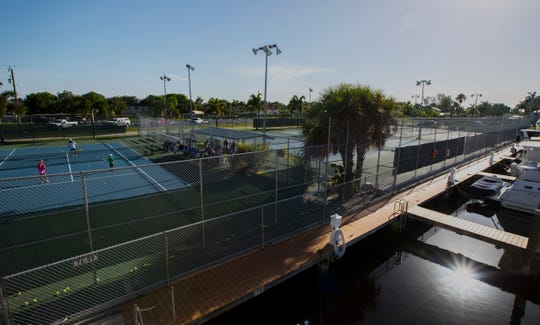 The city of Cape Coral is considering proposal to build a restroom and office facility on the site of the five tennis courts at the Cape Coral Yacht and Racquet Club. Opponents say that it is too difficult to get to the nearest site, Kennedy Park and note that the courts get steady use throughout the day.