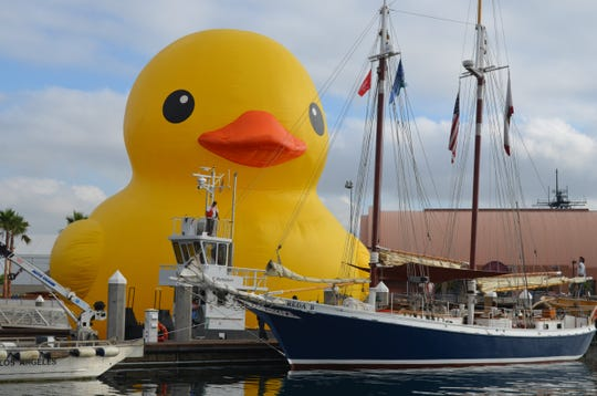 The World's Largest Duck, otherwise known as Mama Duck, makes about a half-dozen appearances a year, including July 26-28 at Nicolet Bank Tall Ships in Green Bay.