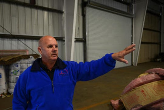 Greg Force shows his Greenville gymnastics training facility in 2015.