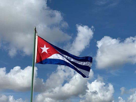 The flag of Cuba originating from Cuba's independence in 1902 following three years of US military rule following the Spanish-American war.