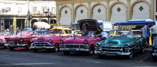 Cuba's auto fleet is frozen in time, with many classic Ford and General Motors cars hailing from the late 1950's as foreign trade collapsed with the advent of Fidel Castro's communist revolution.