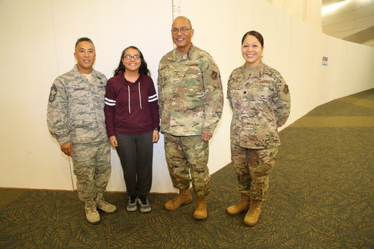 Capt. Francine Cruz from the Guam Air National Guard's 254th Force Support Squadron, returned home July 14 from a deployment in support of Operation Inherent Resolve. Cruz was tasked with protocol services at her assigned location. She is the first of dozens of Airmen who will be returning from deployment.