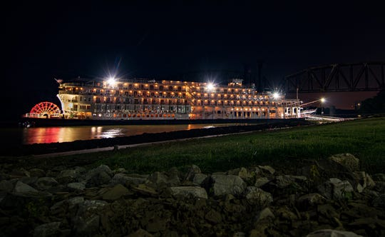 The American Queen docked Thursday evening on the Henderson Riverfront. Passengers were spending a full day Friday touring Audubon State Park, Ellis Park, the Henderson Brewing Co. and downtown.