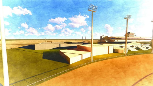 Ellis Entertainment unveiled plans Friday for a $55 million expansion project at Ellis Park which includes the construction of a new Historical Horse Racing facility and the installation of lights.